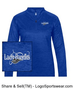 Tonal Blend Ladies 1/4 Zip Pullover - Embroidered Design Zoom