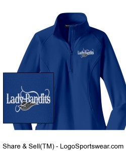 Ladies Sport-Wick Stretch 1/2-Zip Pullover - Embroidered Design Zoom